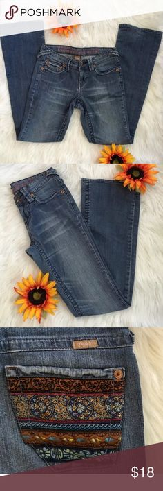 Candies Jeans with tribal design pockets Candies size 5 jeans , with tribal design back pockets. All of my items come from a smoke free, pet free home . Excellent pre owned condition Candie's Jeans Boot Cut
