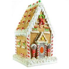 Light Up Gingerbread House Gingerbread Decorations, Christmas Decorations, Kitchen Decorations, Christmas Ornaments, Christmas Ideas, Christmas Gingerbread House, Gingerbread Houses, Candyland, Holiday Treats