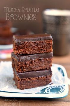 Mocha Truffle Brownies