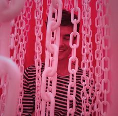 Pink aesthetic with chains Aesthetic Images, Red Aesthetic, Character Aesthetic, Aesthetic Collage, Pale Pink, Red And Pink, Pretty In Pink, Grunge, Pink Milk