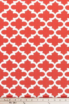 Quatrefoil Fabric Fulton Coral made by Premier Prints Inc