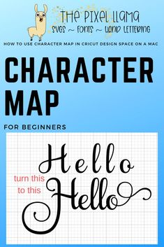 Learn how to use your character map in Cricut Design Space. This shows you how to use it on a Mac.