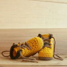 Baby Construction Boots, Baby Boy Shoes, Newborn Booties, Crochet Baby Boots, Work Boots, Baby Construction Boots - Newborn Slippers by BriellaSoulKids