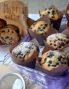 Gros muffins myrtilles comme au starbucks