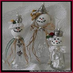 Dollar Store Crafter: Turn Dollar Store Salt And Pepper Shakers Into Sno...