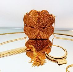 Gorgeous Judith Leiber Four Leaf Clover Minaudière on sale for President's Day!