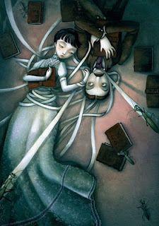 I Benjamin Lacombe Edgar Allan Poe, Lewis Carroll, Fantasy Illustration, Art Illustrations, Pop Surrealism, Conte, Dark Art, Love Art, Unique Art