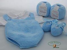 Trendy Ideas For Crochet Baby Dress Boy Baby Knitting Patterns, Knitting For Kids, Crochet Patterns, Knitted Baby Clothes, Knitted Romper, Tricot Baby, Diaper Covers, Culottes, Baby Socks