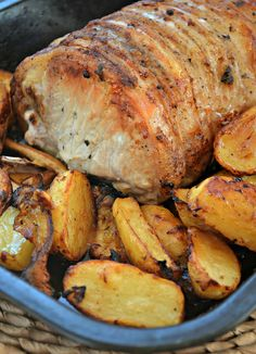 Roast Pork and New Potatoes with Lemon and Thyme
