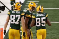 Jordy Nelson, Aaron Rodgers, and Greg Jennings