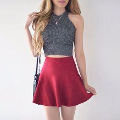 Annie Red Skirt – MANGO RABBIT