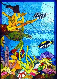 ambient stained glass - reef scenes: