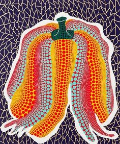 Pumpkin - Yayoi Kusama I like the constant theme of different pattens and colours used