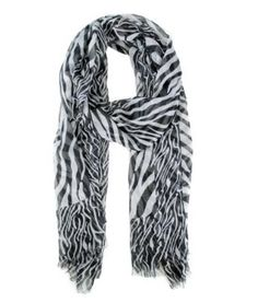 Modadorn Sheer Zebra Print Scarf Black Women's fashion, clothing & accessories Modadorn. $12.99