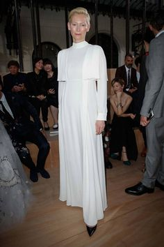Тилда Суинтон на показе Valentino (couture f/w 2015-16)