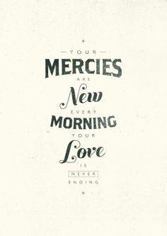 new mercies...