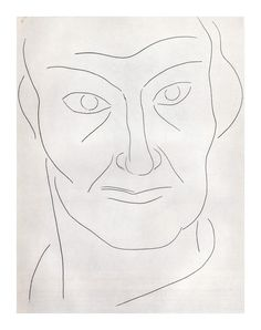 "Matisse ""Portrait of Baudelaire"" Etching 1932-34 MoMA"