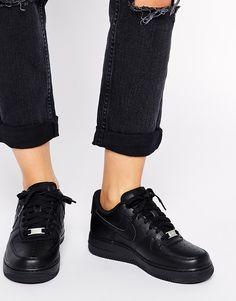 nike air force 1 noir femme porté