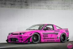 Rocket Bunny Nissan S13 Fastback Who else is psyched for NFS 2015? Not many cars look good in pink like this. Rocket Bunny Kits really spice up the culture of modifying cars.