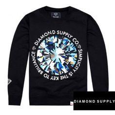 "Diamond Supply ""Simplicity Is Key"" Crewneck Sweater (Black) #diamondsupply #sweater #streetwear #streetfashion #style #urbanwear #fashion"