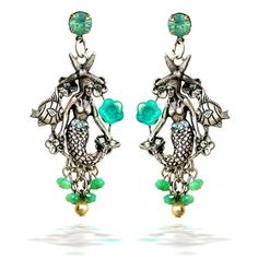 Mermaid Garden Earrings by Mary DeMarco for La Contessa Jewelry E8060 *** You can get additional details at the image link.