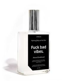 Don't let the dryness get you down. Fuck Bad Vibes is formulated with hydrating ingredients to treatdryness. This skin and hair mist helps moisturize and softe