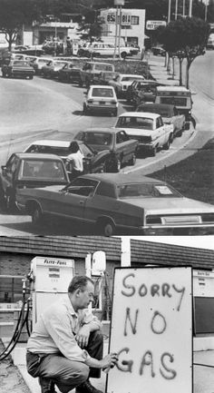 In 1973 OAPEC nations imposed a oil embargo in response to the United States decision to assist the Israeli military. The resulting embargo left the states starved for fuel. Not only did snaking lines form for blocks to get to gas stations, but the fuel was rationed to only a certain amount per car. By February of 1974 20% of gas stations were dry