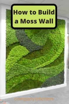 In This Video you will learn how to use your moss wall art to build a moss wall using preserved moss. The Moss used in Ball Moss , Flat Moss and Lichen. The Moss wall requires no maintenance. These Pre-Made Panels Make is Easy and Quick to Build an Amazing Moss Wal.  So you can create your own moss wall and install in your office or home. Interior Designers like to specify moss walls as they create a eco-friendly style to their interior home décor. Moss Garden, Garden Art, Garden Design, Moss Wall Art, Diy Wall Art, Indoor Garden, Indoor Plants, Growing Moss, Moss Decor