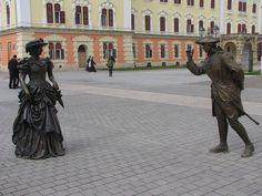 """ – statues in Alba Iulia, Romania; photo by Rausch Wilhelm Robert, via Hello Ladies, Romania, Statues, Lady, Sculptures, Effigy"