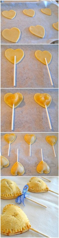 Christmas treats for kids - Apple Pie Pops! Just Desserts, Delicious Desserts, Dessert Recipes, Yummy Food, Pie Pops, Kisses Recipe, Cupcakes, Snacks, Creative Food