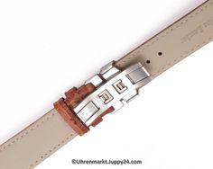 Lerderband mit Faltschließe in Edelstahl - Schwarz mit weißer Stepnaht Bangles, Bracelets, Watches, Jewelry, Leather Cord, Stainless Steel, Black, Jewlery, Wristwatches