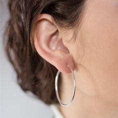 Eternal Spring Earrings Sterling Silver Small Hoop Earrings Unique One Of A Kind Hoop Earrings