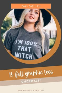 Fall is my favorite time of year! I just love to wear a great graphic tee tied in the front or layered with a cardigan! So I've rounded up the internet's cutest, affordable graphic tees for you! I'm sure you'll find something that you'll love! #graphictees #fallstyle #affordablestyle #fallfavorites #fallfashion