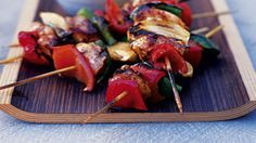 Mexican chicken skewers with guacamole