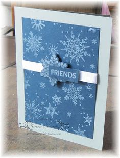 Here is the card I made for the Addicted to CAS challenge Snowflake. Thank you for visiting! Snowflake Cards, Snowflakes, Cas, Addiction, Christmas Cards, Card Making, Challenge, Studio, Frame
