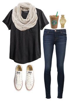"""today."" by the-southern-prep ❤ liked on Polyvore featuring H&M, Mint Velvet, Converse, J Brand, Michael Kors, women's clothing, women, female, woman and misses"