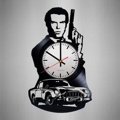 Bond 007 Handmade Vinyl Record Wall Clock Fan Gift - VINYL CLOCKS