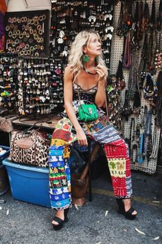 Natalie, printastic perfection at the Malcolm Shabazz market in Harlem | Tales Of Endearment