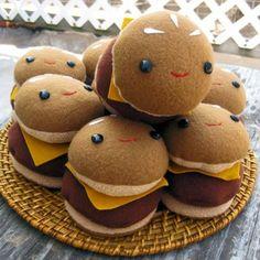 Cheeseburger Plushies