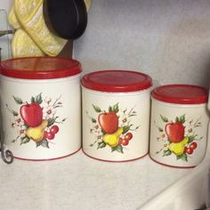 Vintage Fruit Canisters