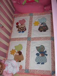 Risultati immagini per colchas patchwork para cunas Quilt Baby, Baby Quilt Patterns, Baby Girl Quilts, Lap Quilts, Girls Quilts, Small Quilts, Quilt Blocks, Colchas Quilting, Machine Quilting