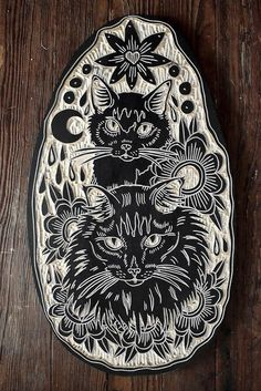 black cat tattoo inspiration