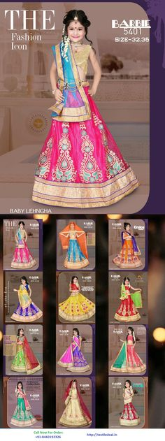 Check Out the Fashion Icon Baby Lehenga Collection Online  | Check Out Kids and Bridal Lehenga Wholesale and Retail Supplier in Surat at http://textiledeal.in/swholesale/Lehengas-wholesale #HarDinFashionKaro