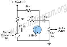 Car Radio Wiring Diagram Moreover Electret Microphone