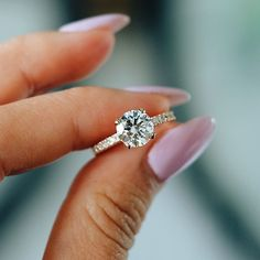 Solitaire engagement ring,single stone engagement ring #engagementring #wedding