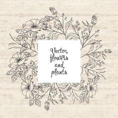 Diseño de flores y plantas Vector Gratis