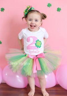 Shamrock Sweetheart Birthday Tutu Outfit...www.ticklemytutu.com