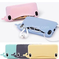 DF Lovly Silicone Whale Soft Case for iPhone 5/5S (Assorted Colors) | MiniInTheBox