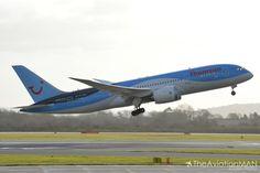Thomson Airways G-TUIB 'Alfie' Departs Manchester Airport Thomson Airways, Manchester Airport, Airplanes, Aircraft, Planes, Aviation, Airplane, Plane