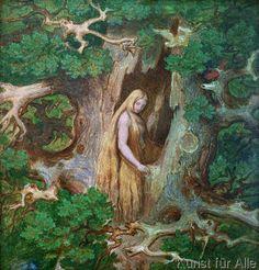Risultati immagini per moritz von schwind Moritz Von Schwind, Rapunzel Story, German Fairy Tales, Nature Spirits, Fairytale Art, Ludwig, Green Man, Folklore, Art Inspo